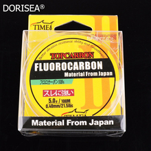 Promotion price TOP Quality Transparent Coating Carbon Fishing Lines Fluorocarbon 100m 0.16mm-0.60mm  fishing lines