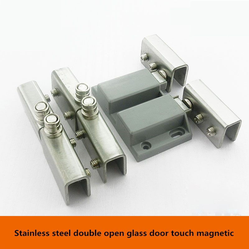 Stainless steel glass door clamp magnetic magnetic touch glass beads under suction touch glass door hinge with magnet 50 percent off stainless steel gate door wall suction magnetic p41 strong resistance
