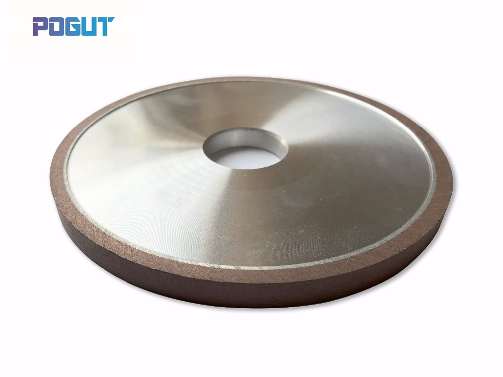 HIGH QUALITY D150*H32mm Flat Diamond Abrasive Resin Wheel for Alloy Steel Ceramic Glass Jade CBN Grinding straight edge diamond wheel for glass metal bond abrasive wheels for glass ceramic edging and beveling hole 22mm grit 150 m008