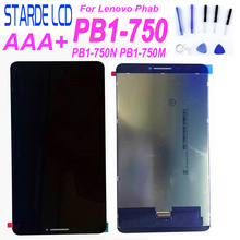 цена на Starde LCD For Lenovo Phab PB1-750N PB1-750M PB1-750 LCD Display Touch Panel Screen Digitizer Assembly with Free Tools
