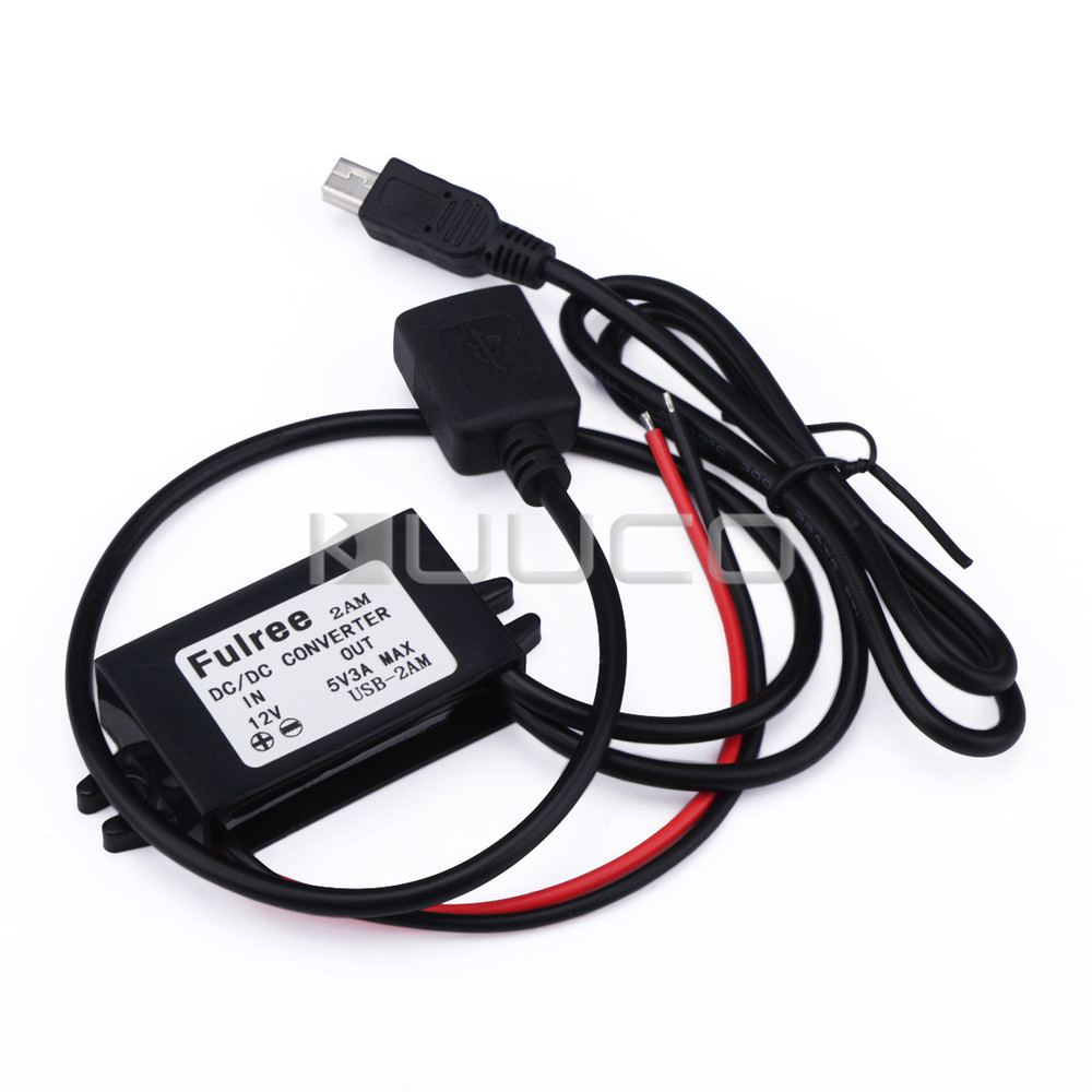 Dual USB Output Charger DC 12V (8~20V) to 5V 3A 15W Buck Voltage Regulator USB Power Adapter Car Converter Waterproof portable black durable car charger dc converter module 12v convert to 5v 3a usb output power adapt 15w auto parts
