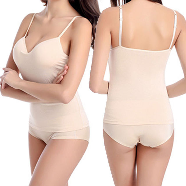 Summer Vest Padded Ladies Women Camisole Solid Sweet Stylish Sexy Strap Soft Sleeveless Top Camisole Sportswear Accessories