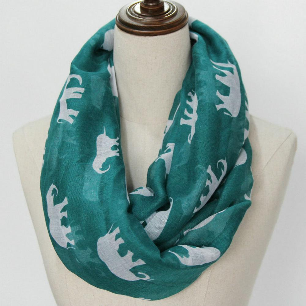 longshawl loop scarf elephant animals infinity scarf US SELLER