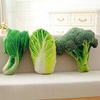Nooer моделирование фрукты зеленый овощ плюшевые подушки дивана подушку голубцы брокколи куклы Дети подарок девушке
