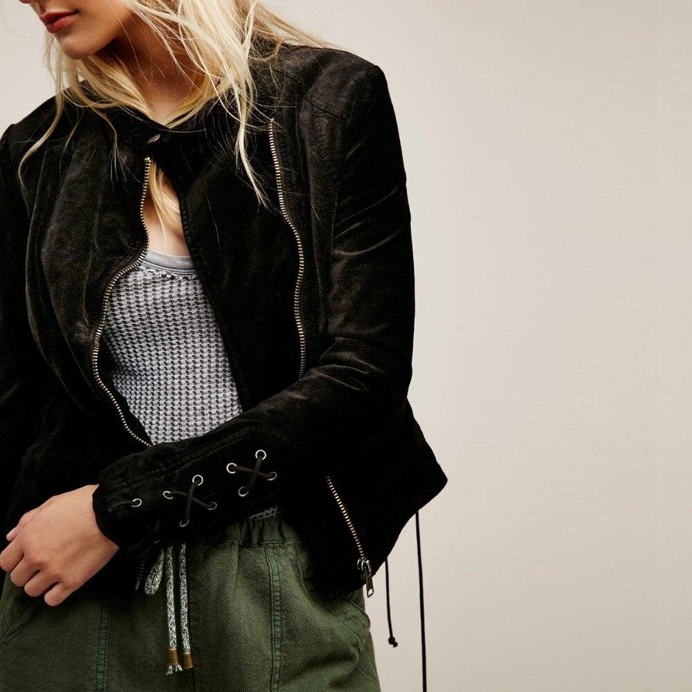 2018 Femmes Vestes Mode De Noir Chaude Base Vente Velours SRpqTZw