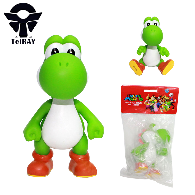 Super Mario Bros Kawaii 13cm Luigi Yoshi Dimosaur Jouet Action Figure Pvc Vinyl Doll Limited Edition Kids Hot Toys for Children 30cm super mario bros green yoshi soft stuffed plush toys doll with tag gift for kids