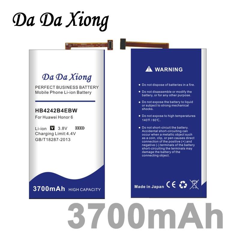 imágenes para Da da xiong 3700 mah hb4242b4ebw batería para huawei honor 6 h60-l01 h60-l02 h60-l11 h60-l04