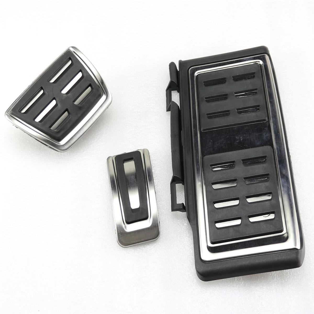 OEM 3pcs Sport Fuel Sport Fuel Brake Foot Rest AT Pedals For VW Golf MK7 No Drill