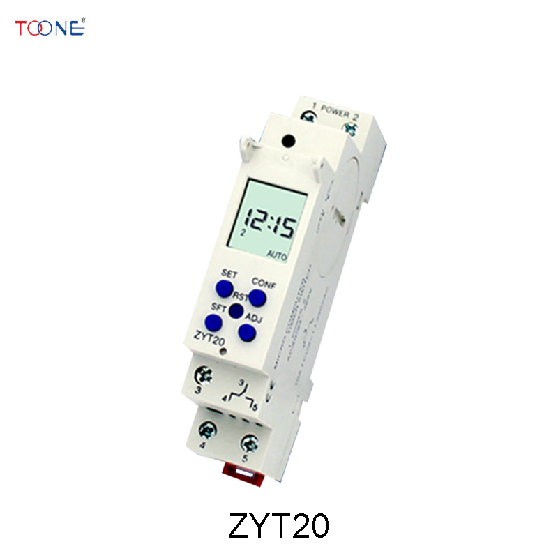 цена на ZYT20 DIN Rail micro computer timer switch AC/DC 24-265V Slim Digital timer 10A 250VAC