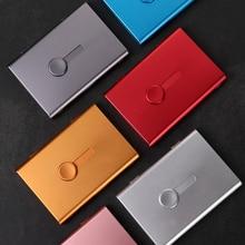 1 шт. кнопочный легкий Автоматический чехол для визиток металлический держатель для карт ручной толчок бизнес Упаковка карт Органайзер
