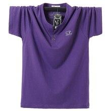 Plus Size 5XL 6XL 7XL 8XL Men Big Tall T-shirt Short Sleeves Oversized T Shirt Cotton Male Large Tee Summer Fit  Elastic force