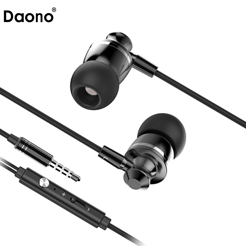 Original DAONO M300 Bass Headphones Stereo Earphone Hifi Headset Earbuds With Microphone for Mobile phone for xiaomi iphone genuine xiaomi hybrid earphone auricolariin ear hifi headset microphone pro multi unit circle iron headphones mobile earphones