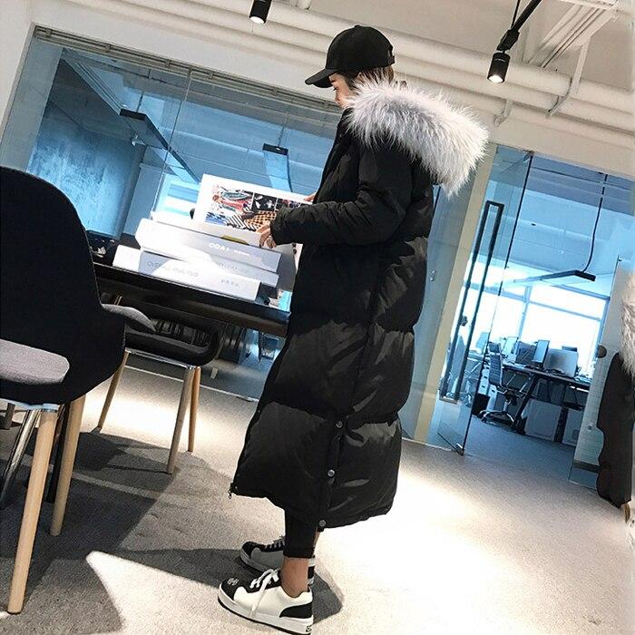 Fourrure À Black Ouatée Rembourré Manteau Femmes Coton Plus La Longue Casaco Taille De camel Parka Capuche Veste Chaud 2018 D'hiver gray Épais Col Inverno w5xqUXT1