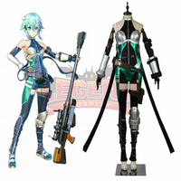 Game Sword Art Online:Fatal Bullet Asada Shino GGO SAO Sinon cosplay costume full set adult costume all size