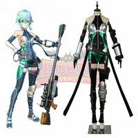 Game Sword Art Online:Fatal Bullet Asada Shino GGO SAO Sinon cosplay costume full set adult costume all size