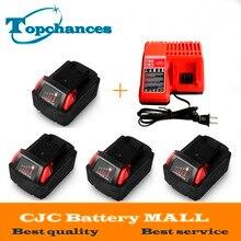 4X Haute qualité 18 V Li-Ion 4000 mAh Remplacement Power Tool Batterie pour Milwaukee M18 XC 48-11-1815 M18B2 M18B4 M18BX Li18 + chargeur