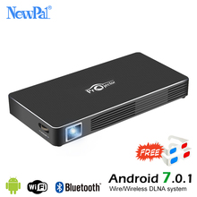 Newpal DLP Projector Full HD Video Mini 3D Projector Android 7.0 Portable Beamer Support WIFI Miracast Airplay DLNA TF TV