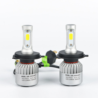 High Beam 6500K 2pcs H4 LED Car Headlight Kits COB SMD Chips Auto Led Head Lamps