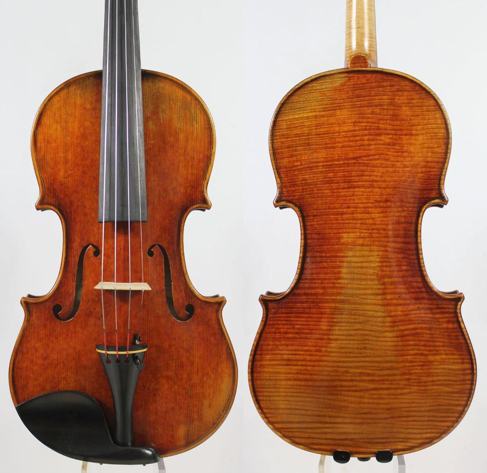 60-y old Spruce!Amazing 1 Pc Back!Antonio Stradivari Soil 4/4 Violin Copy, All European Wood,Free Shipping! master level copy 4 4 violin european spruce handmade oil varnish handmade violin with free violin bow