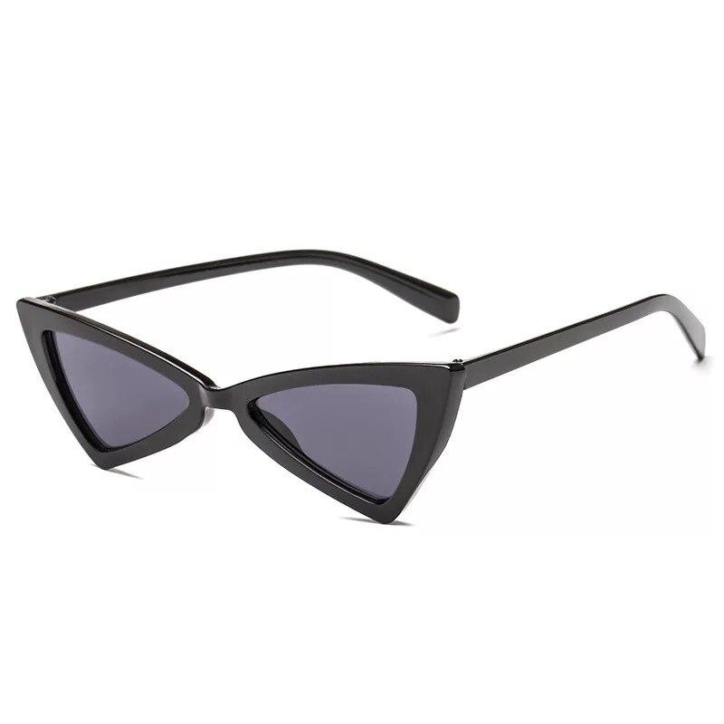 Pequeño Triángulo ojo de gato gafas de sol mujer moda Vintage gato gafas mujer 2018 gafas de sol con estilo UV400 gafas reloj pared vintage decorativo mudo adornos para casa reloj mural sala relojes de pared casa regalos de boda