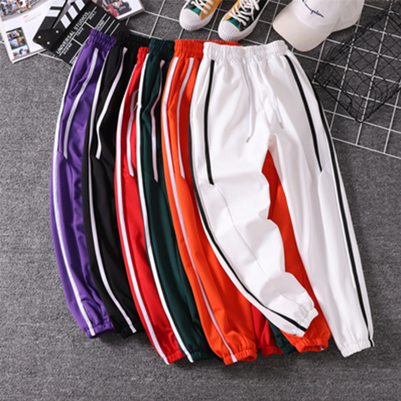 Female Pants Trousers Spring Purple Black White Girl Autumn Green Women's New And Red