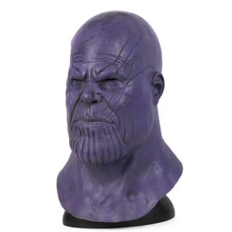Avengers Endgame Thanos Upgrades Cosplay Mask Props Latex Full Face Helmet in Boys Costume Accessories from Novelty Special Use