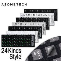 10 PCS Russian English French PC Keyboard Sticker PVC Matte Glossy Alphabet Layout Notebook Laptop PC