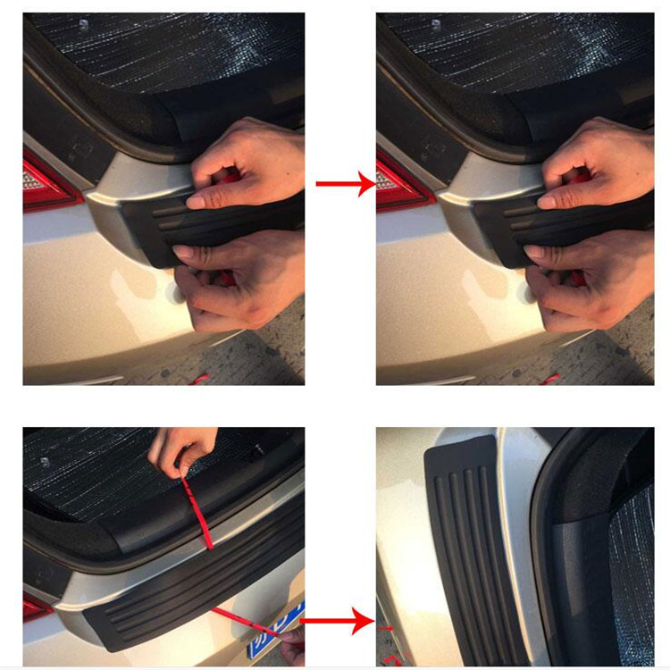 car trunk strip adhesive tape styling Prevent car scratches for Chery TIGGO A3 A5 ARRIZO BONUS 3 M11 SEDAN HATCHBACK accessories 8m the car hub protects therubber gasket sticker for chery tiggo a3 a5 arrizo 7 bonus 3 m11 sedan m11 hatchback indis very
