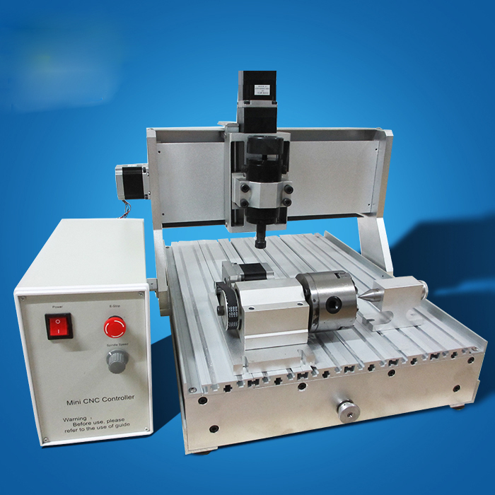 Best sell small-size cnc router engraving machine for metal plates cnc 5axis a aixs rotary axis t chuck type for cnc router cnc milling machine best quality