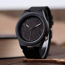 10e19fcbdc3 BOBO PÁSSARO de Madeira De Bambu dos homens relógio De Pulso Antigo Design  Exclusivo Homens esporte Marca de Topo Relógios de Pu.