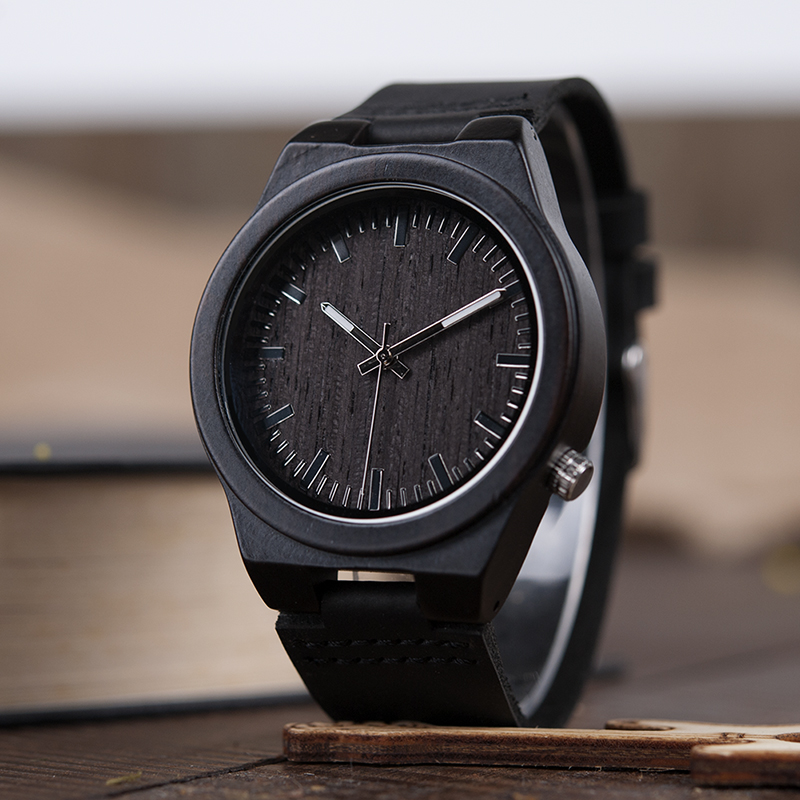 BOBO BIRD Men's Wood Bamboo Wrist watch Antique Unique Design Men Top Brand sport wooden quartz Wrist Watches custom logo bobo bird men s ebony wood design watches with real leather quartz watch for men brand luxury wooden bamboo wrist watch