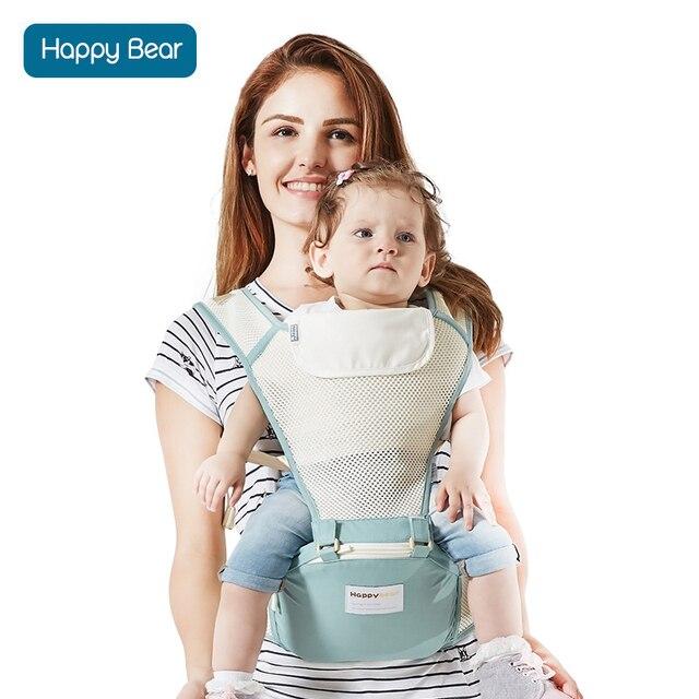 Happybear baby carrier wrap mesh breathable kangaroo travel backpack Infant Sling carrier waist stool kangaroo hip Seat for baby