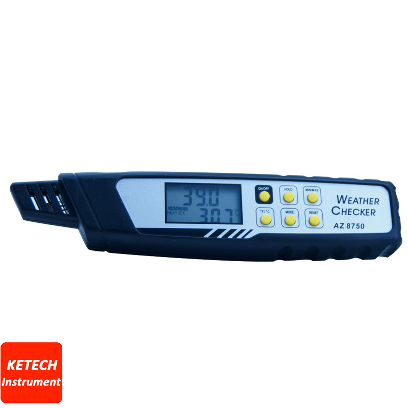 AZ8750 Hot Heat Index Meter ,Temperature Humidity Atmospheric Pressure Dew Point Tester