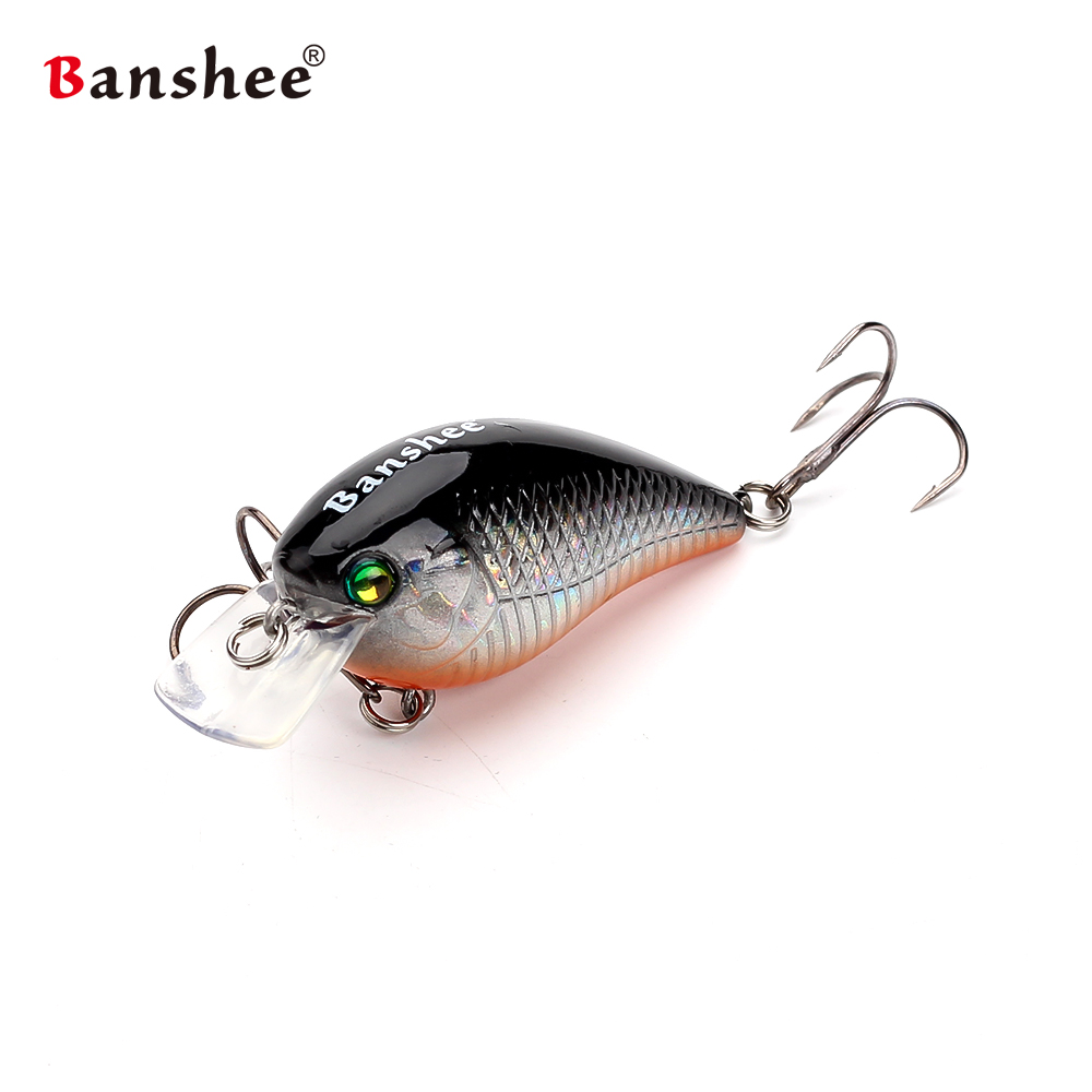 Banshee 1PCS VC03 Fishing Lure Medium Diving Crankbait Wobbler Floating isca artificial Hard Bait Crankbait peche leurre pesca