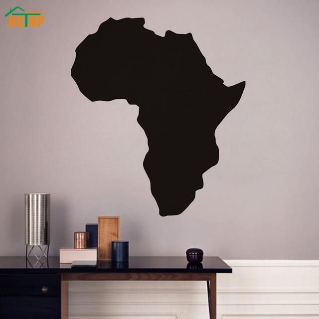 DCTOP Mappa Di Africa Wall Stickers Camera Da Letto Smontabile Del ...