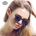 Chashma Ms. retro punk style sunglasses European and American big round glasses UV decorative mirror SL500