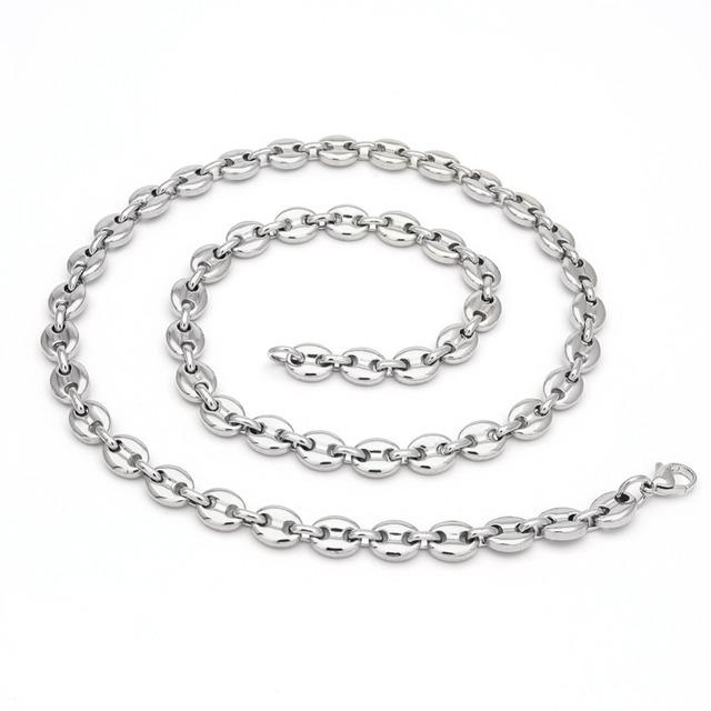 coffee bean shape Men Hip hop Chain Necklace & Bracelets