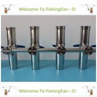 4pcs 1 5/8Rod Holder Adjustable Stainless Clamp On Fishing Rod Holder Marine Boat Fishing Tackle