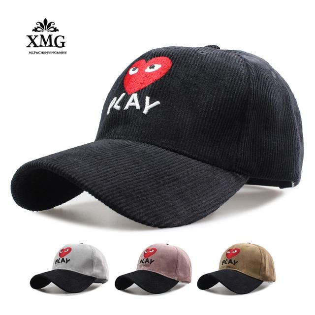 2017 Good Top sales red heart Wakubo Baseball cap snapback Rei PLAY caps  for men wowen bone masculino casquette Material Science 37df28e508b