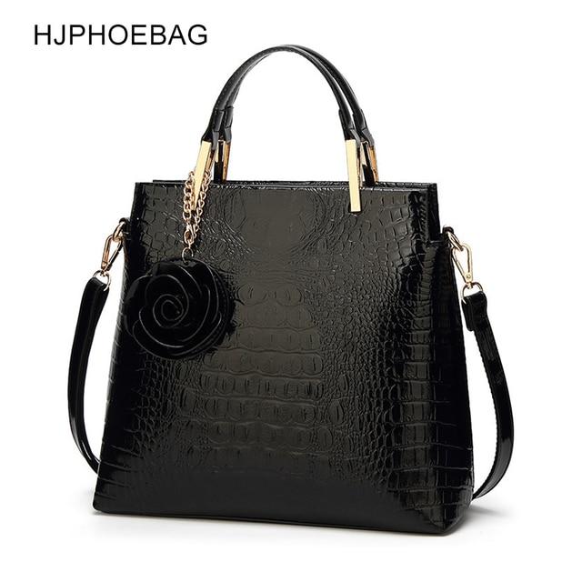 HJPHOEBAG Womens large capacity crocodile pattern handbag casual crocodile shoulder bag Messenger bags ladies bolso mujer YC194