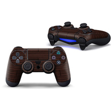 Wood Design For Sony Playstation PS4 Controller Skin Sticker For PS4 Joystick Skin Cover—0374