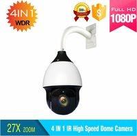 Новый дизайн sony cmos ИК ночного видения расстояние 250 м купольная камера 1080 P TVI выход 27x оптический зум Высокая купольная камера