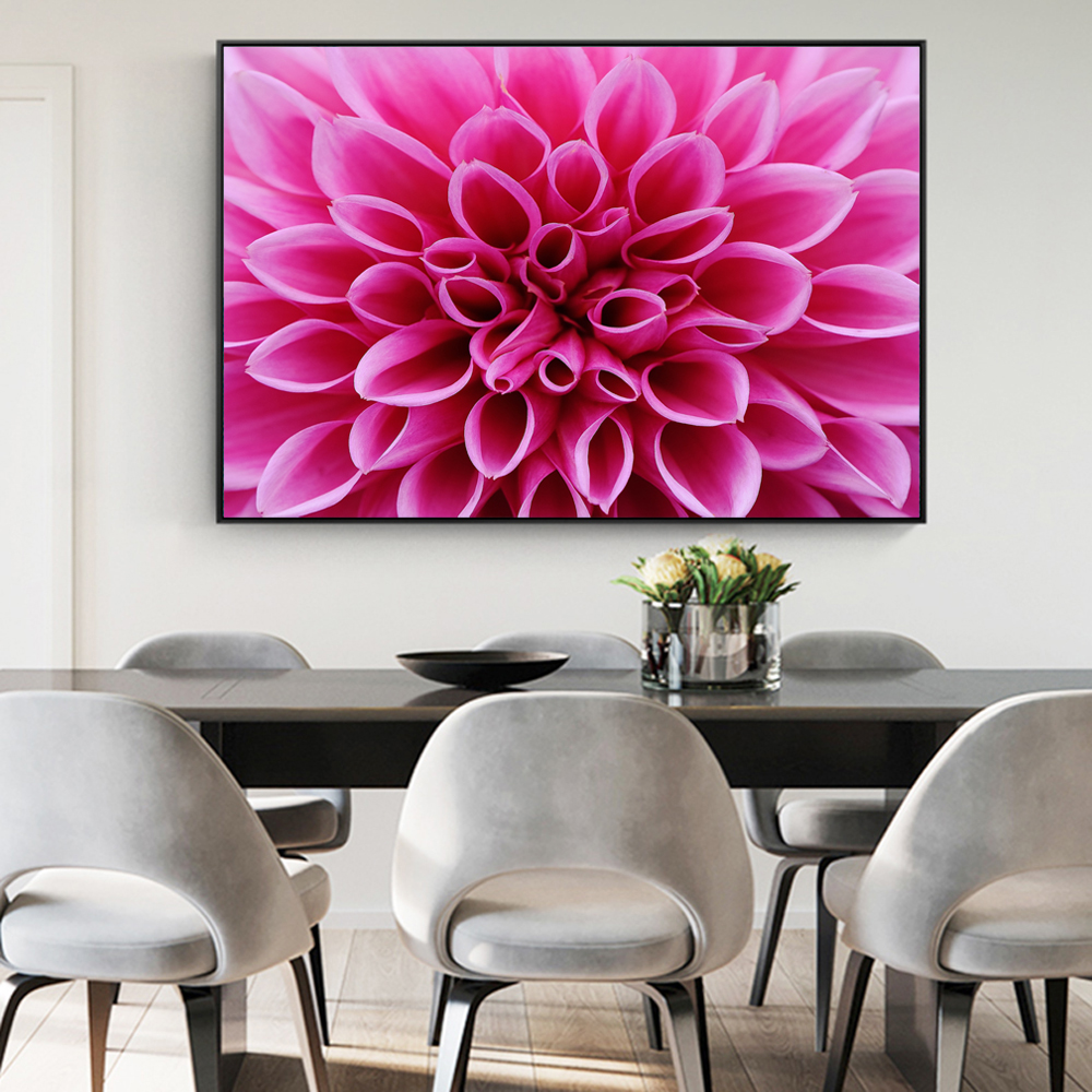 Aliexpress Buy Pink Dahlia Flowers Wall Posters And Prints