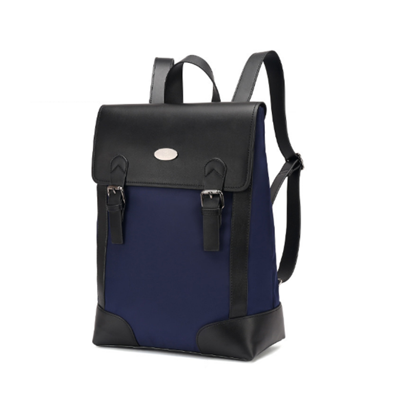 XIYUAN Men leather and oxford Backpack Large Capacity Unisex Rucksack Male Casual  Leather Travel Tote Bag MALE BLACK kaka men large capacity oxford laptop bag men s backpacks unisex women backpack new arrival backpack bag oxford men bag x475