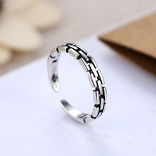 Retro 925 Sterling Silver Round Rings For Women Christmas Gift Finger Ring Fashion sterling-silver-jewelry