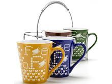 Набор кружек LORAINE, Coffee, 5 предметов, на подставке