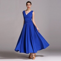 New Arrival Sleeveless Evening Dress Lady New Modern Dance Suit Female Ballroom Dance Clothing Import Silk Fabric Uniform B 6181