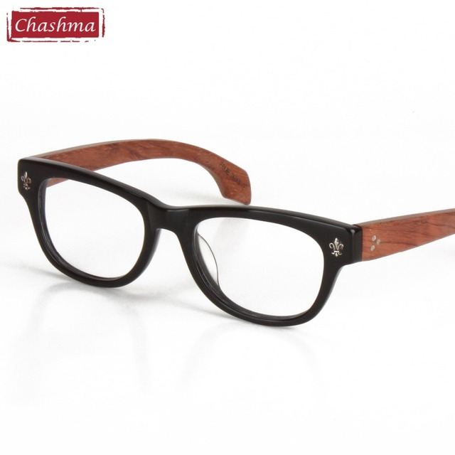 e5d1df96842 Chashma Top Quality Glasses Hand Made Real Wood Frame Brand Designer  Eyeglass Frames Men and Women