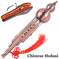 Chinese Flute Hulusi Traditional Gourd Flauta Cucurbit Wind Musical Instruments Calabash Instrumentos de viento ABS Resin Gift