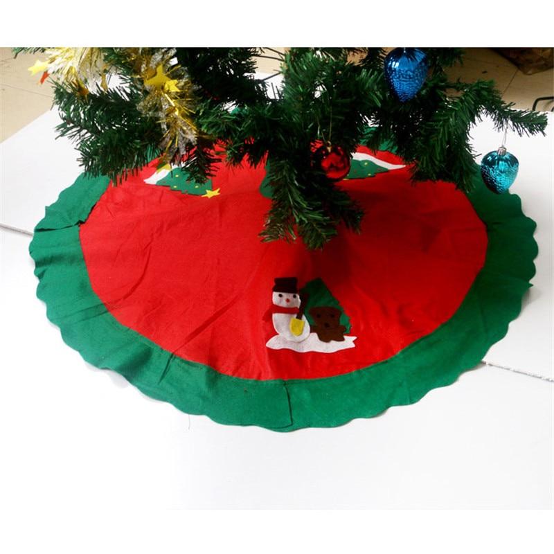 New Christmas Tree Skirt Santa Wrap Apron Carpet Decor Supplies 90CM In Skirts From Home Garden On Aliexpress